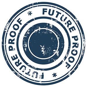 Logo met de tekst 'future proof' - Future Assistant Academy: voor futureproof assistants in het onderwijs en bedrijfsleven